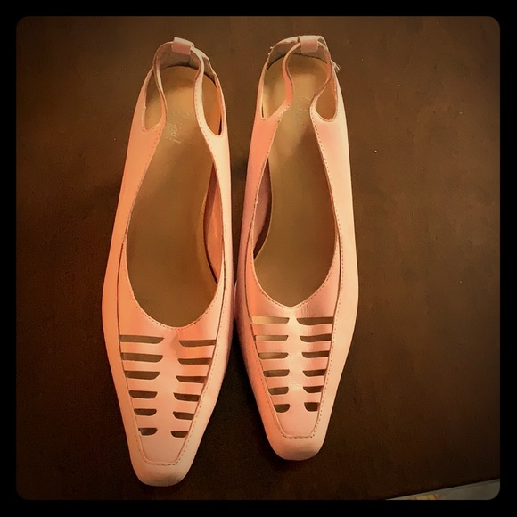 73f46d303a458 Bijou Shoes | Light Pink Low Heel Shoe | Poshmark